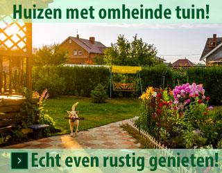 genieten in vakantiehuizen met omheinde tuin banner